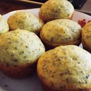Brioșe cu mac și lămâie/Lemon poppy seed muffins
