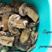 Ciuperci la cuptor cu parmezan și cimbru