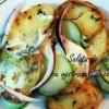 Salată de cartofi cu castraveți și ceapă roșie + dressing italian