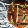 (Cuib de) Pâine cu ciuperci sotate, mozzarella și ceapă verde: Pull apart bread