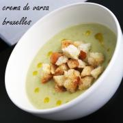 Supă cremă de varză de Bruxelles