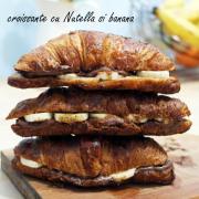 Croissante cu Nutella și banană, prăjite în beurre noisette