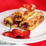 Frigănele cu Nutella și căpșuni