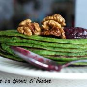 Clătite verzi - cu banane și spanac