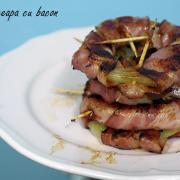 Inele de ceapă cu bacon
