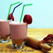 Milkshake: Cheesecake cu căpșuni