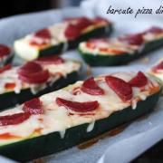 Bărcuțe pizza din zucchini