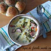 Supă de fasole verde cu lapte