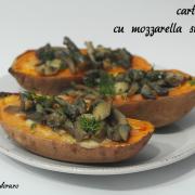 Cheap clean January: Cartofi dulci umpluți cu mozzarella și ciuperci