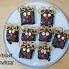 Reindeer brownies: Negrese cu migdale