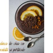 Budincă de chia cu ciocolată și portocale