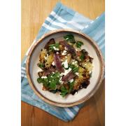 Cartofi zdrobiți cu anșoa, pătrunjel și brânză de capră