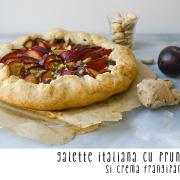 Galette italiană cu prune și cremă frangipane