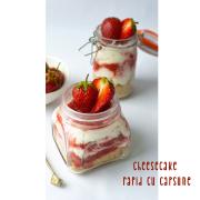 Cheesecake rapid cu căpșune