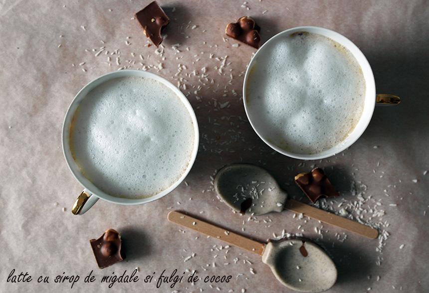 latte sirop migdale