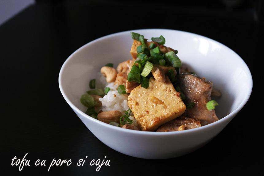 tofu cu porc si caju