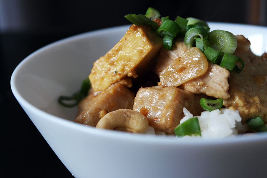 tofu porc caju