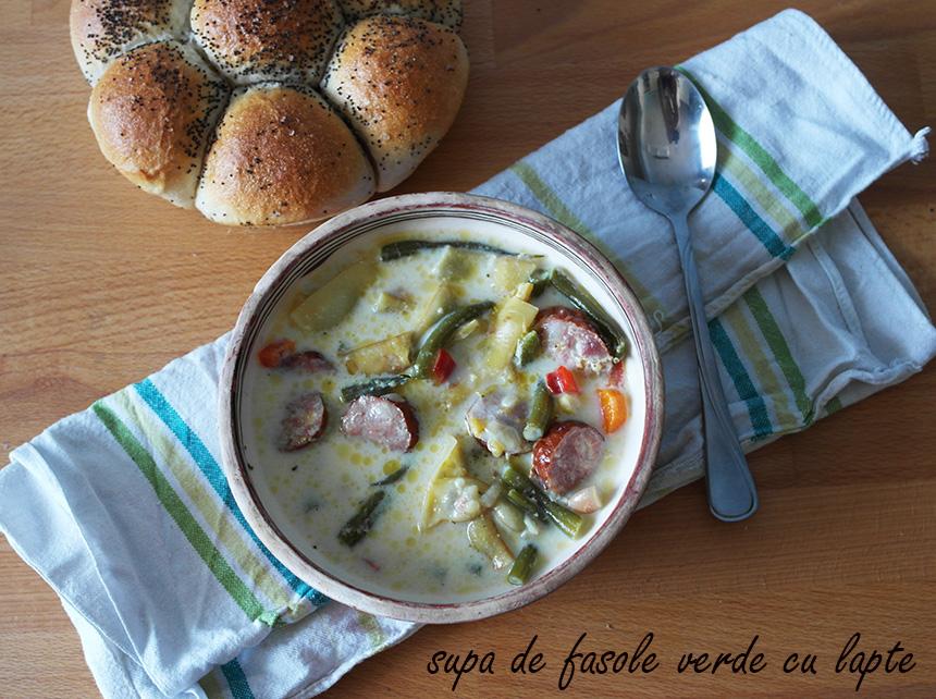 supa de fasole verde cu lapte