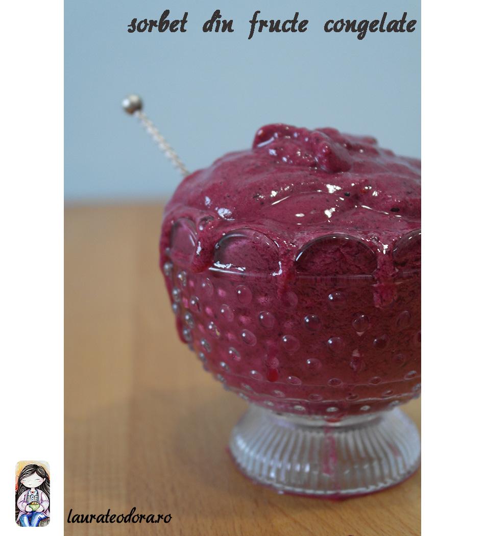 sorbet fructe congelate