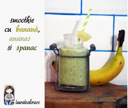 smoothie banana spanac ananas