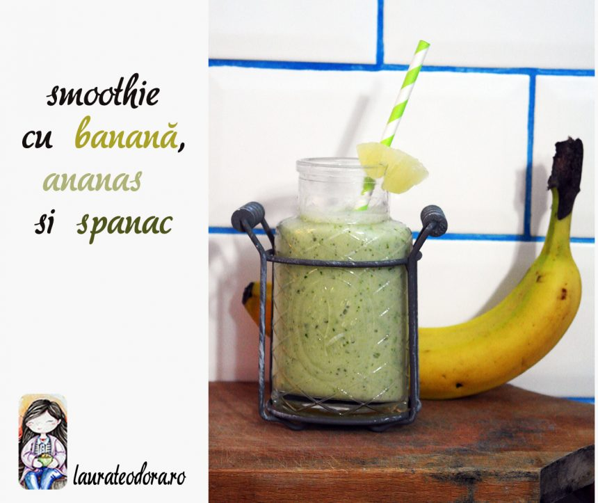 smoothie banana spanac ananas