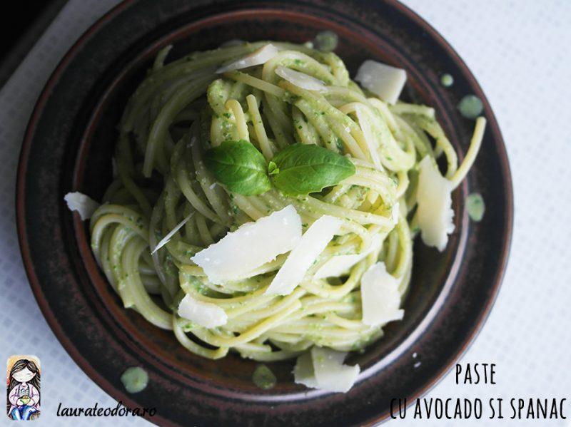 paste cu avocado si spanac