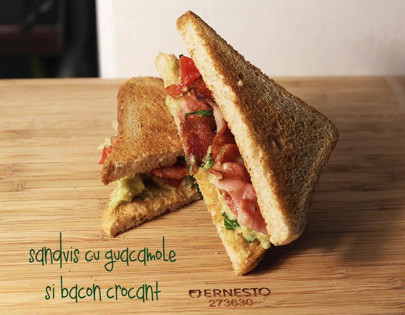sandvis cu guac si bacon