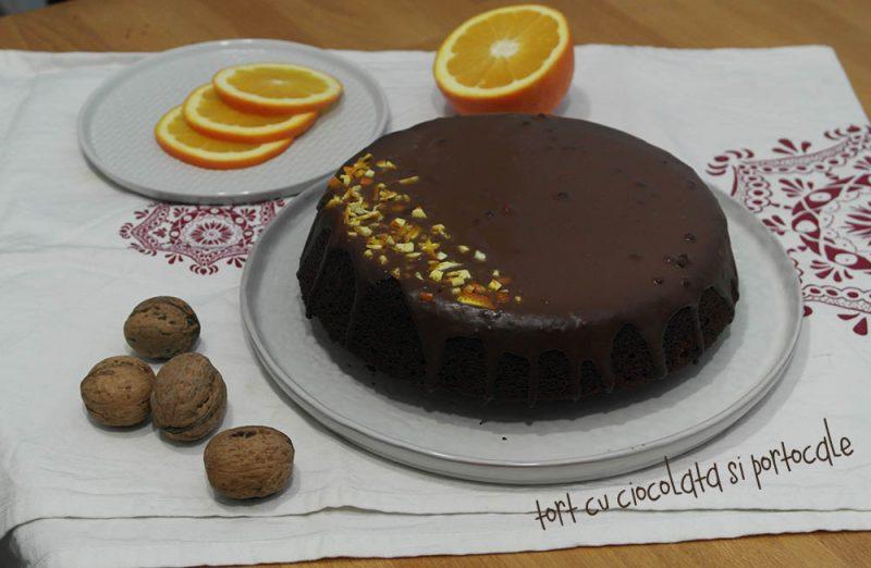 tort cu ciocolata si portocale