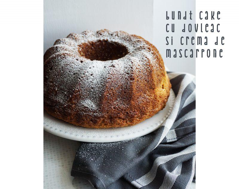 bundt cake cu dovleac si crema de mascarpone